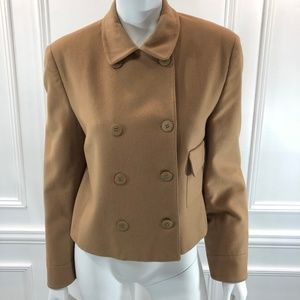 Barneys New York 8 Cashmere Jacket Brown Double E2